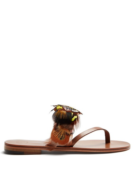 ÁLVARO embellished sandals embellished sandals tan shoes