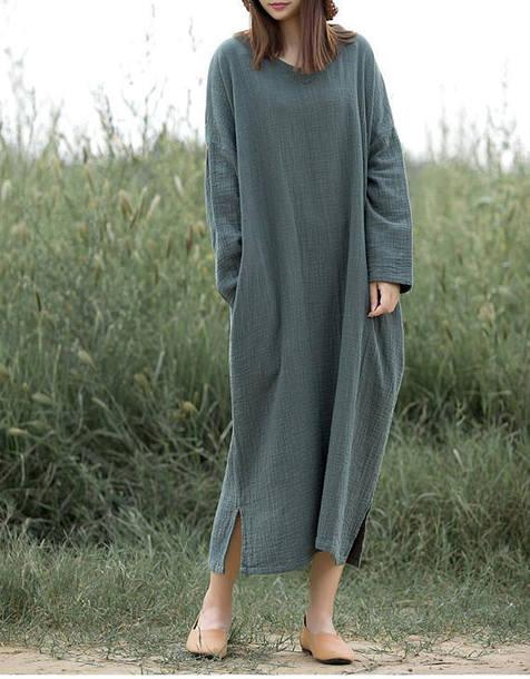 dress maxi dress oversize long dress