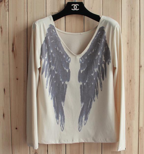 Angel Wings Print T-Shirt