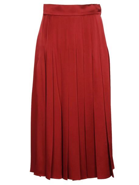 Fendi skirt pleated skirt pleated