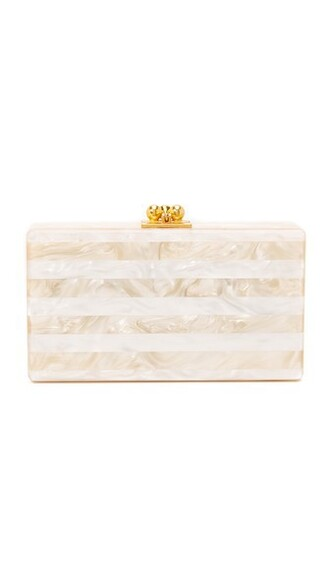 clutch nude white bag