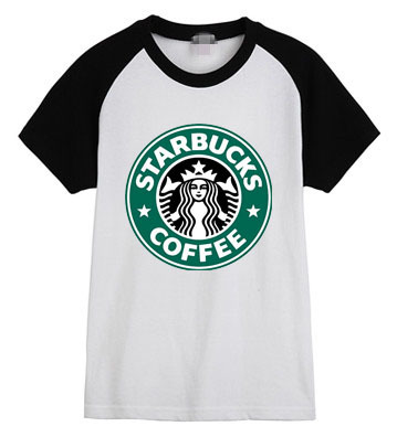 Free shipping women's t shirt women casual loose Starbucks many colors cotton T Shirt-in T-Shirts from Apparel & Accessories on Aliexpress.com