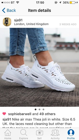 shoes white cut-out nike trainers