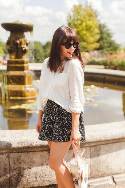 wish wish wish blogger blouse skirt shoes bag