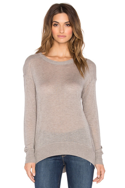 line sweater taupe