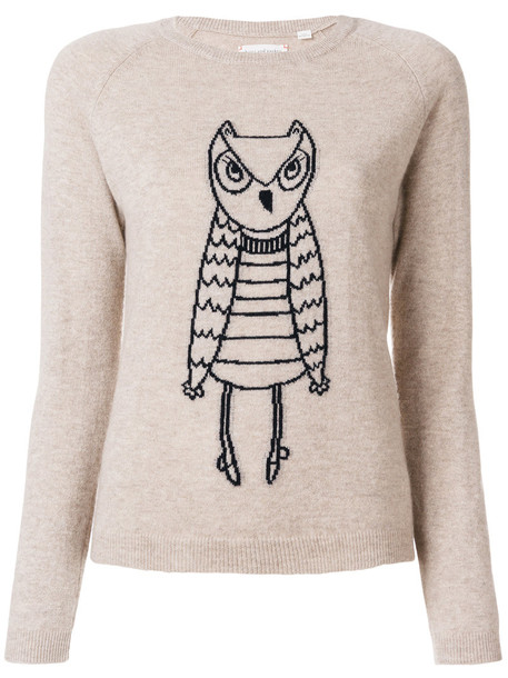 sweater owl women brown