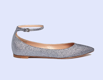 shoes pointed toe glitter glitter shoes grey flats ballet flats