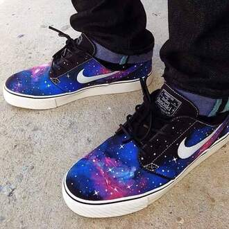 shoes nike galaxy print space vans menswear