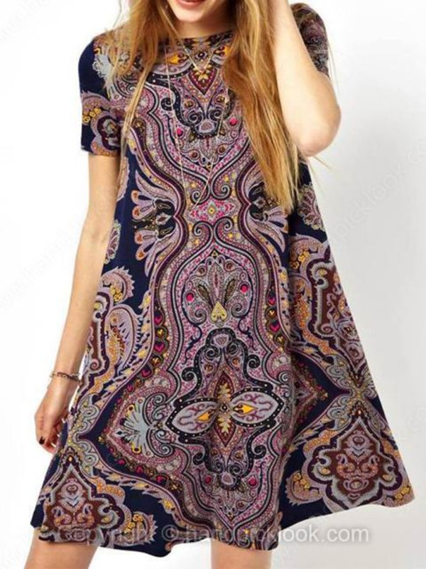 print dress tribal pattern short sleeve dress tunic dress patterned skirt tribal print romper