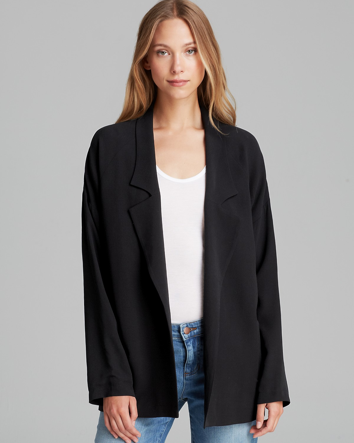 Eileen Fisher Silk Boyfriend Blazer | Bloomingdale's