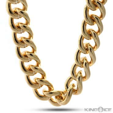Gold 23mm Thick Urban Style Chain | Hip Hop Jewelry | Urban Style Chain