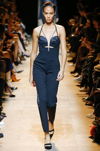 jumpsuit joan smalls pants top model runway fashion week 2017 paris fashion week 2017 mugler