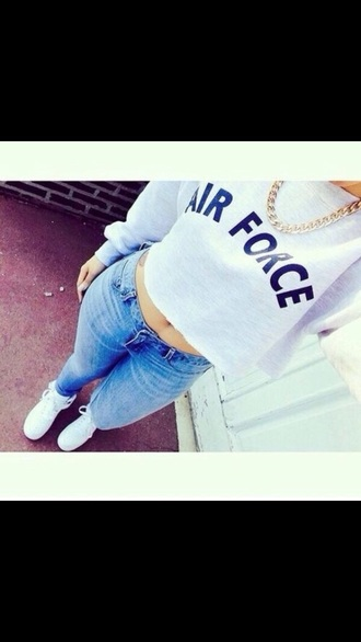 sweater air force ones white sweater