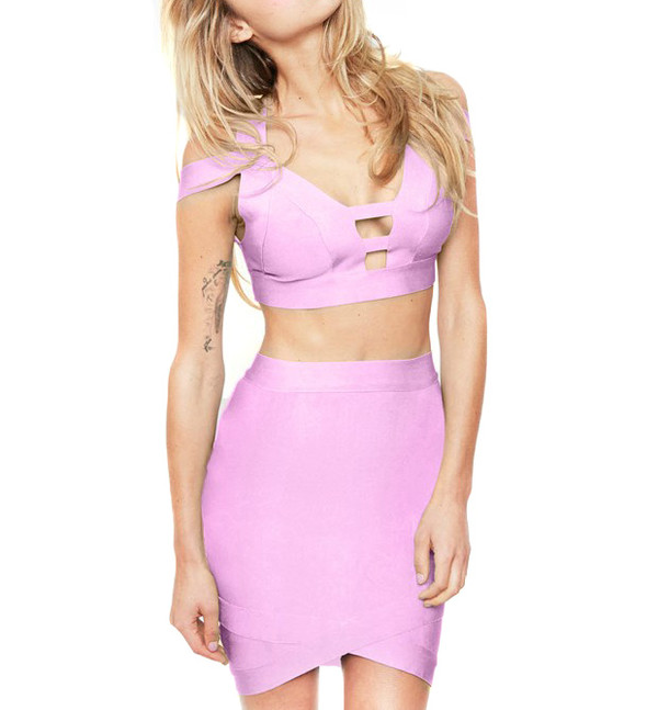 top pastel top pastel skirt streetstyle stylemoi sexy wear summer outfits two-piece