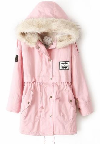 jacket pink fur pink parka parka parkas parka jacket pink jacket winter jacket