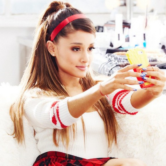 crop tops blouse ariana grande red stripes