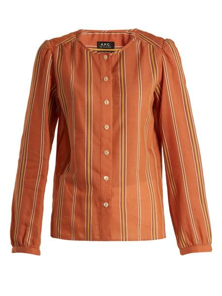 A.P.C. top cotton orange