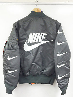 GLOW IN DARK MA-1 BOMBER JACKET alpha x nike air supreme bape off white jordan M (Rs. 28253)