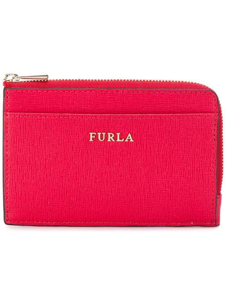 Furla - small zip purse - women - Calf Leather/Viscose - One Size, Pink/Purple, Calf Leather/Viscose