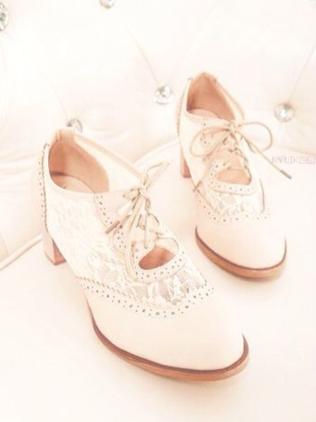 shoes white oxfords oxfords dress shoes oxford heels cute high heels lace lace shoes