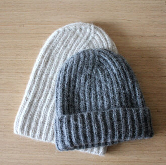 hat beanie oatmeal hat rib knit hat fisherman cap grey hat alpaca