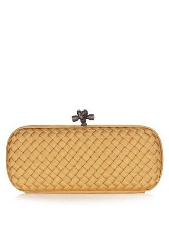 clutch satin gold bag