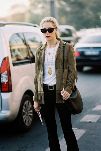 vanessa jackman blogger fringed jacket pendant