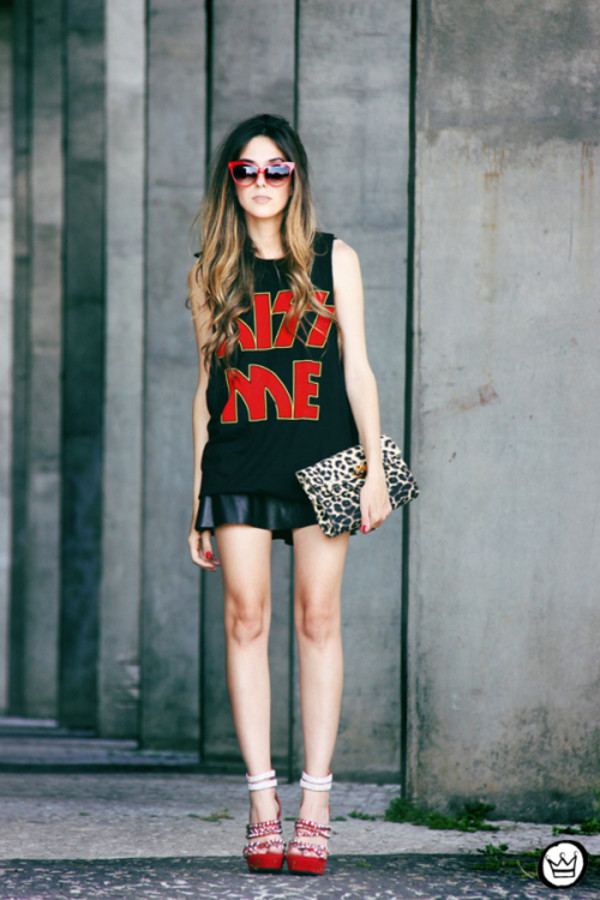 fashion coolture t-shirt skirt shoes