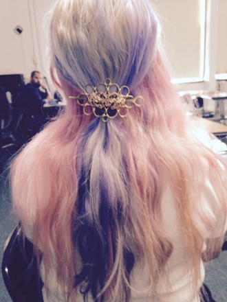 hair accessory rose pink and purple
