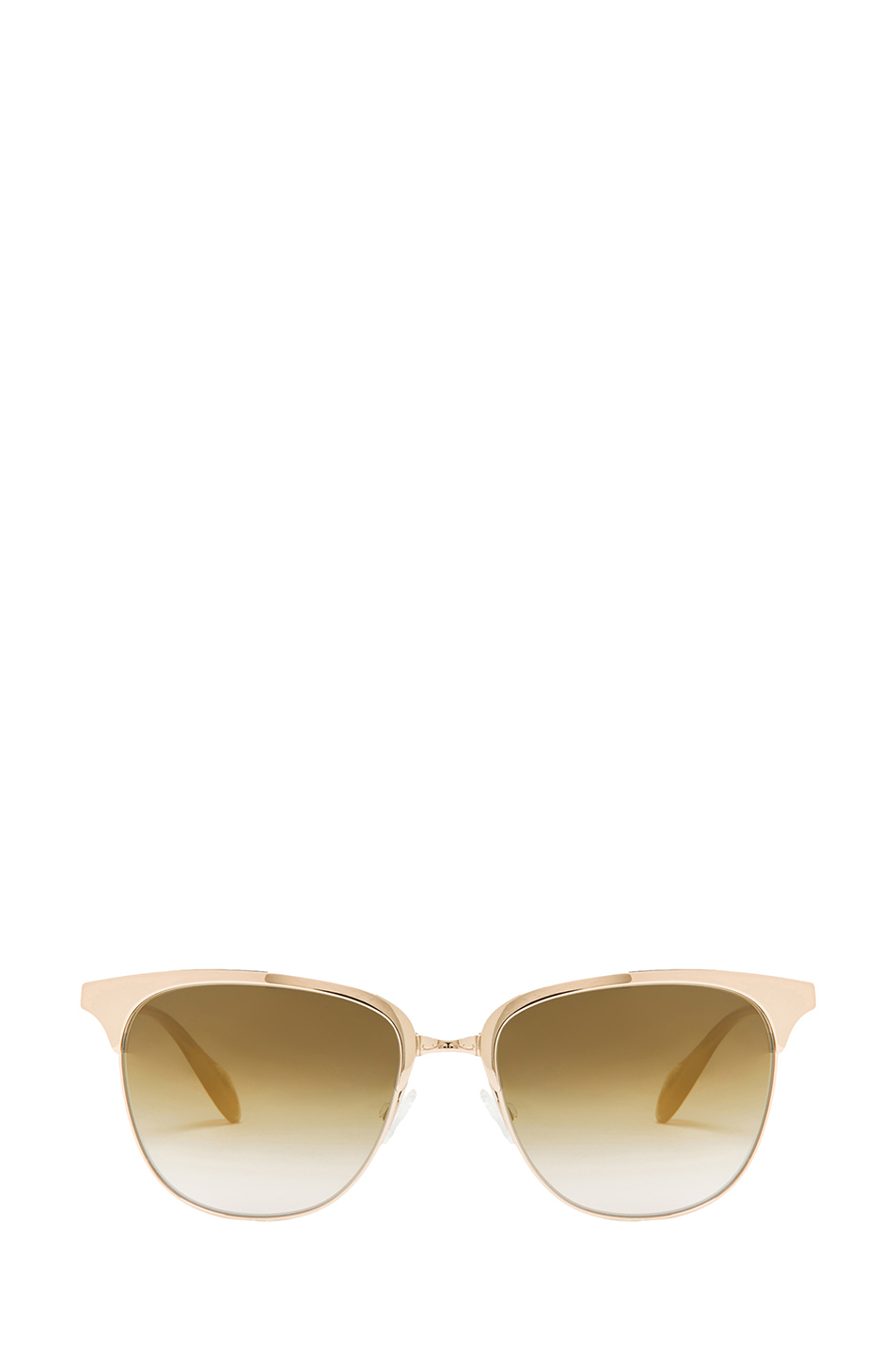 Oliver Peoples | Leiana Flash Mirror Sunglasses in Crystal & Soft Gold