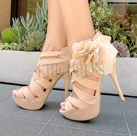 2014 Elegant Flower High Heels Summer Sandals Stiletto Sandals- ericdress.com 10869429