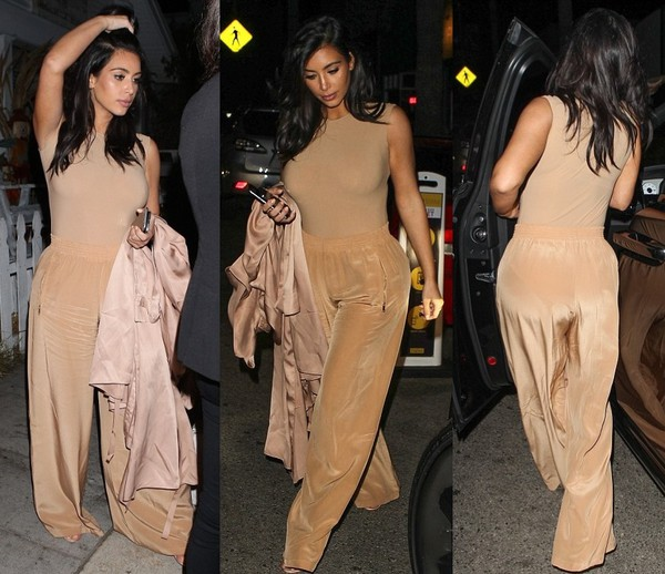 top bodysuit nude kim kardashian pants