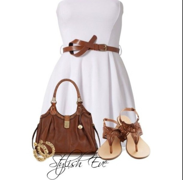 bag brown purse dress