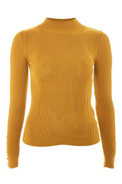 Topshop jumper mustard sweater