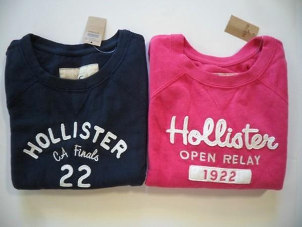 Sweater, Noraasolstad.blogg.no, Pink, Blue, Hollister