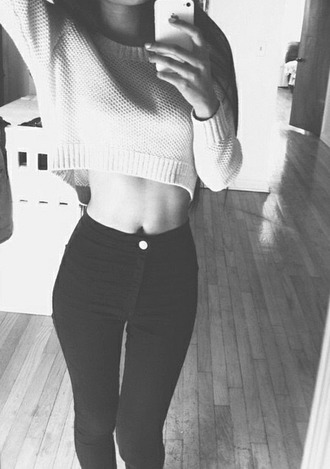 jeans black high waisted jeans skinny jeans fashionable black jeans sweater