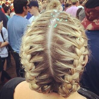 hair accessory hair rings braid blue hair hairstyles