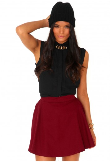 Madison Denim Skater Skirt - Skirts - Missguided