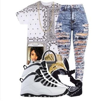 grey jordans acid wash jeans jeans shoes