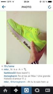 shoes,nike,nike air,nike sneakers,nike air force 1,nike running shoes,air max,nike sportswear,sneakers,fluo,green