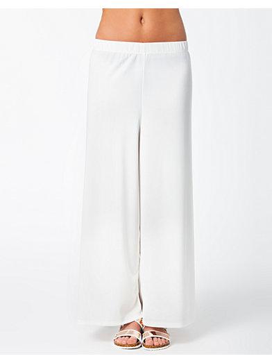 Wide Leg Pants - Notion 1.3 - Offwhite - Byxor & Shorts - Kläder - Kvinna - Nelly.com