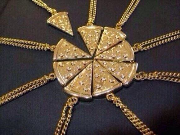 jewels friends pizza gold best friends neclace friendship necklace necklace bestfriends cute pizza friendship pizza necklace