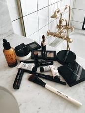 always judging,blogger,make-up,bathroom,bobbi brown,cosmetics,makeup brushes,foundation,dark lipstick