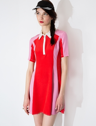 dress ootd pixiemarket to be adored to be adored dress collared dress korean fashion korean style colorblock summer dress