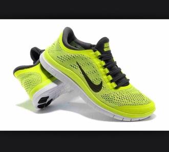 cool fashion nike free run 3.0 training run athletic neon tennis athlete train sportswear @cute