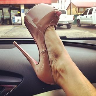 shoes high heels nude pumps high heel pumps patent shoes peep toe pumps