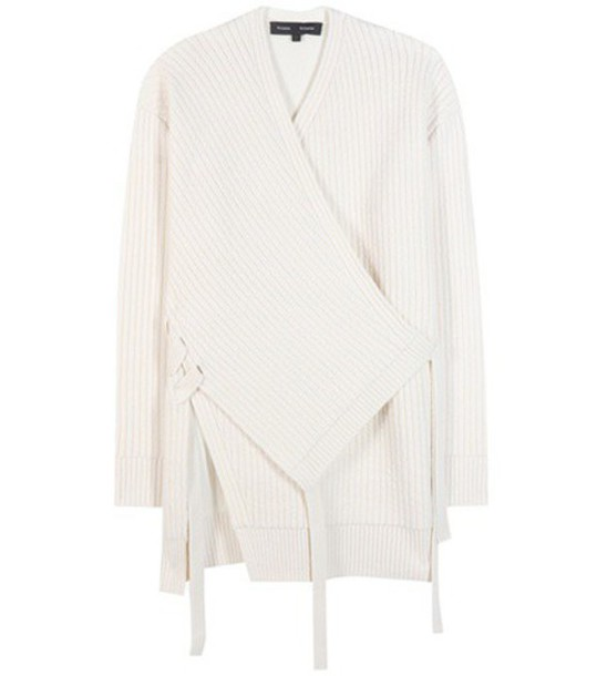 Proenza Schouler Wool And Cashmere-blend Knitted Cardigan in white