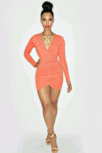 dress coral coral dress