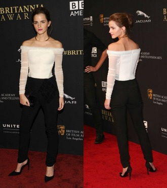 top emma watson sheer pants