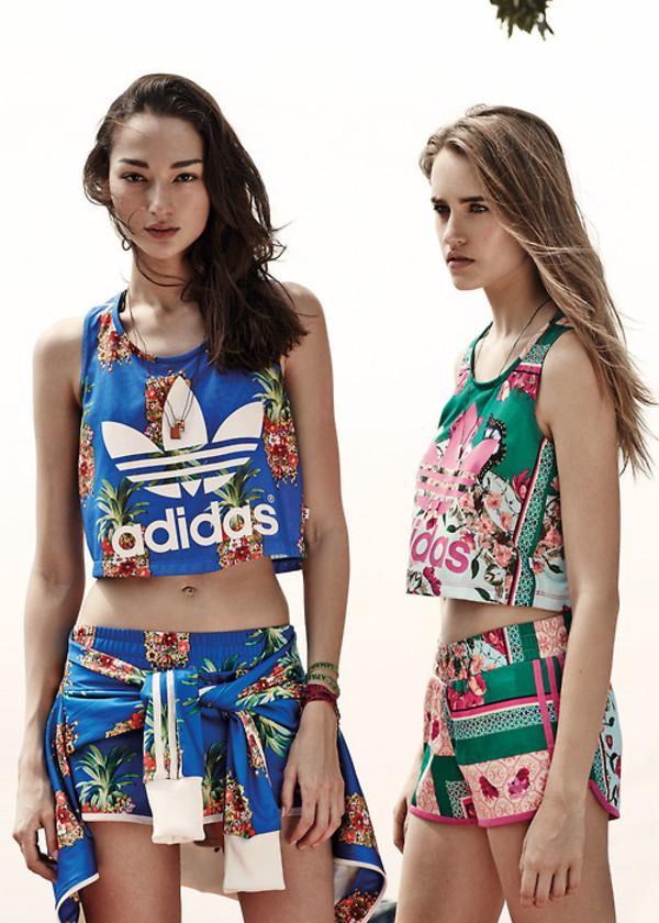 shirt set adidas crop tops dope